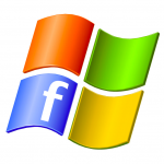 Social Search Windows and facebook logo mobile digital media