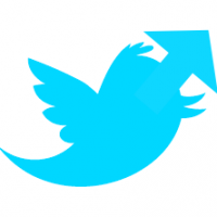 Twitter bird logo with arrow, The Myndset Digital Marketing Strategy