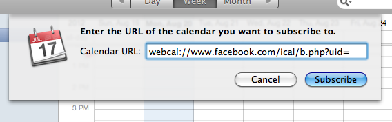 URL Calendar from Facebook, Myndset Digital Marketing and Brand Strategy