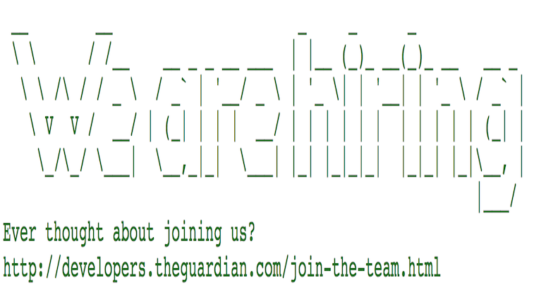 Creative Hiring The Guardian header
