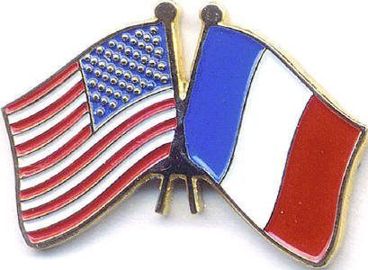 American French flag lapel