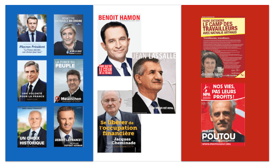 poster french presidential election candidates 2