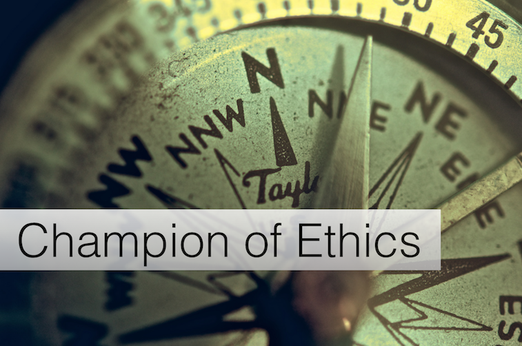 champion of ethics