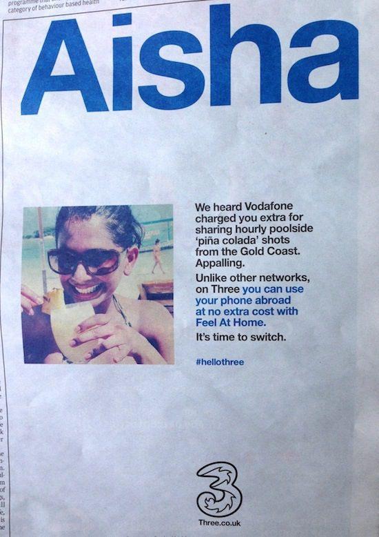 #HelloThree Ad - brand story marketing strategy