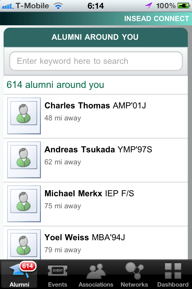 Insead Connect Alumni Around You on The Myndset