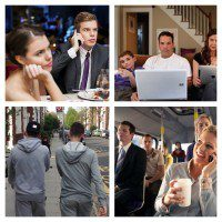 Mobile etiquette collage - the myndset digital marketing