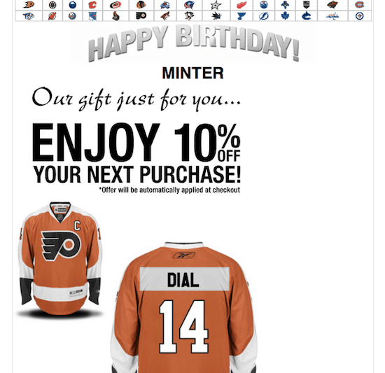 NHL birthday greeting - the myndset digital strategy