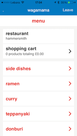 Paypal Wagamama Order - myndset digital strategy