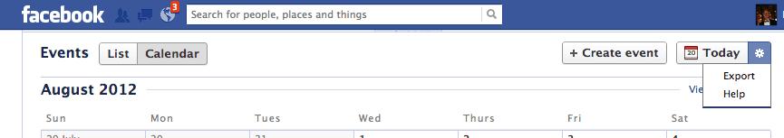 Facebook Events Settings Export, The Myndset Digital Marketing