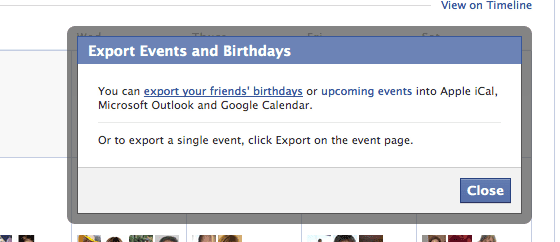 Facebook Events, Settings, Export, The Myndset Digital Marketing and Brand Strategy