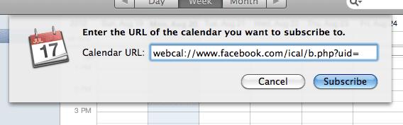 URL Calendar from Facebook, Myndset Digital Marketing and Brand Strategy