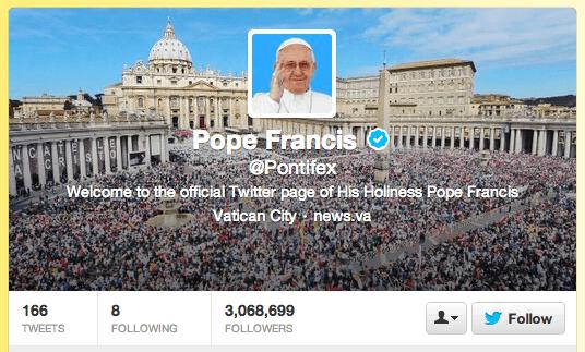 Twitter Pontifex Social Media, The Myndset brand strategy digital marketing