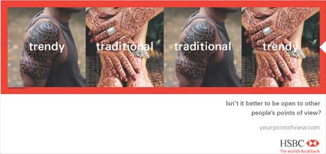 banking-advert-hsbc-traditional-trendy