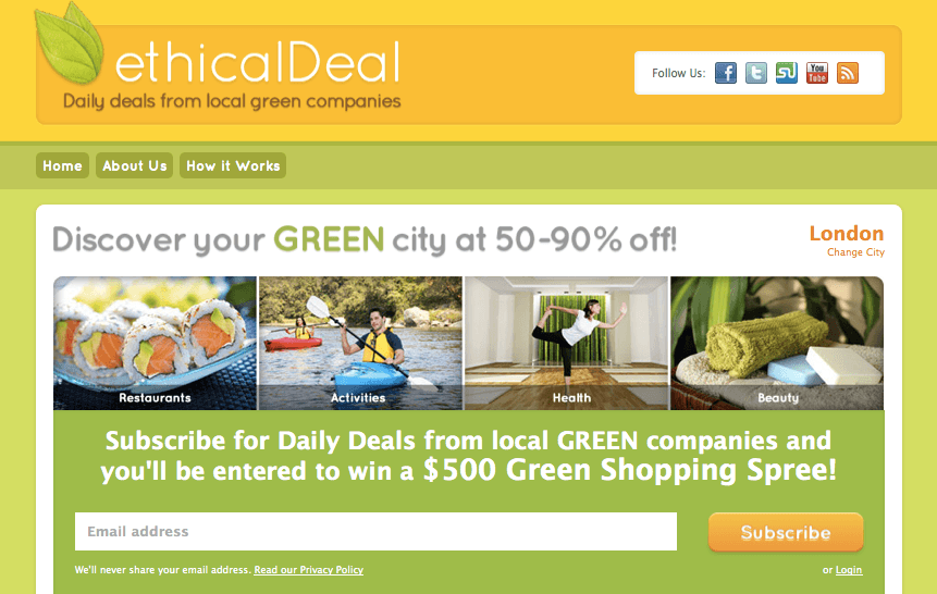 ethicalDeal Group Green Buying
