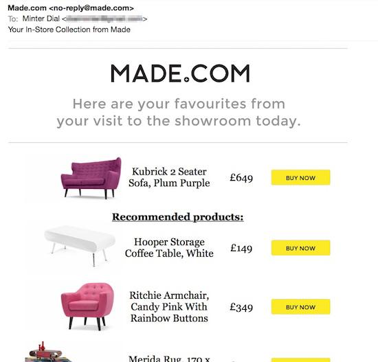 made in a new digitail experience the estore. Black Bedroom Furniture Sets. Home Design Ideas