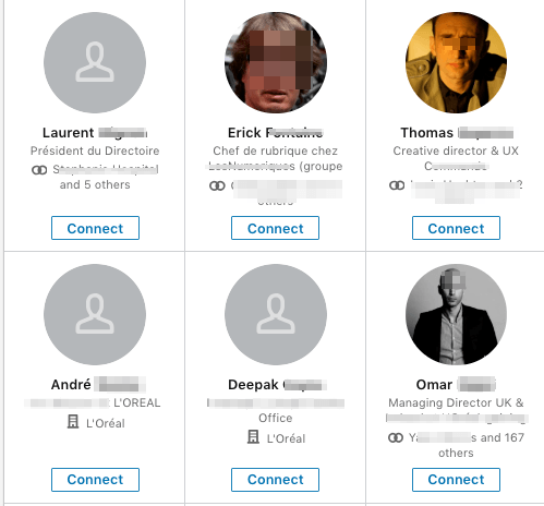 Linkedin networking connection request